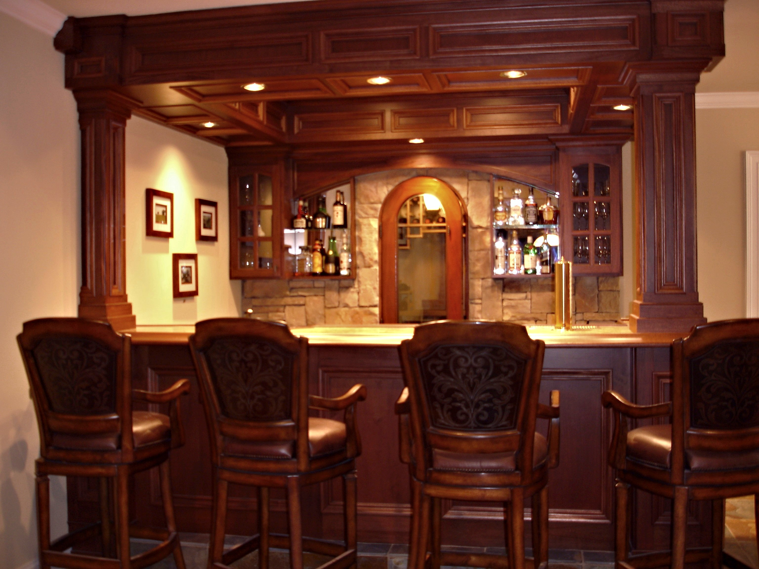How to build a custom residential bar keystone